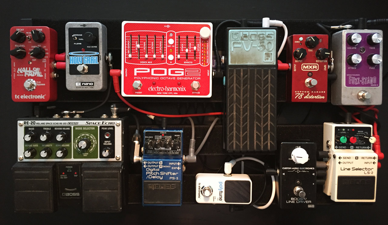 Fig. 1: Pedalboard configuration for the performance